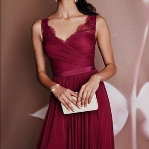 BHLDN Hitherto Fleur Black Cherry Bridesmaid Dress